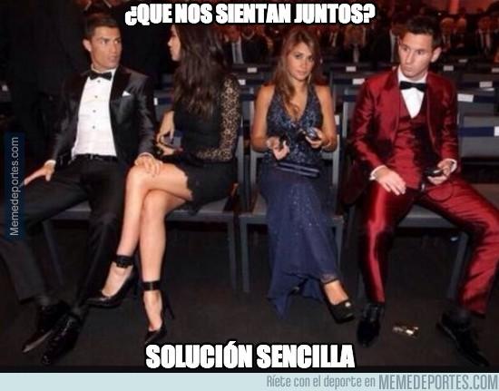 245713 - La solución de Cristiano y Messi para no sentarse juntos