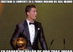 Enlace a Cristiano se convierte en el primer jugador del Real Madrid