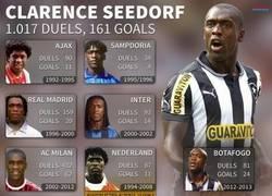 Enlace a La carrera de Clarence Seedorf en números.
