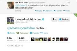 Enlace a Podolski no jugaría en el Tottenham ni aunque le paguen millones de dólares