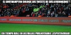 Enlace a El Southampton coloca los tweets de sus aficionados en las vallas