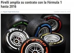 Enlace a Pirelli amplía su contrato con la F1 hasta 2016