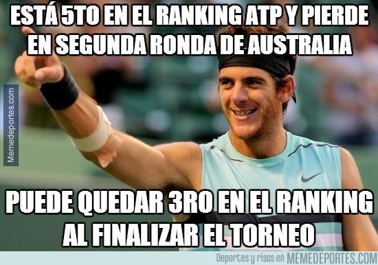 248910 - Está 5to en el ranking ATP y pierde en segunda ronda de Australia