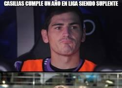 Enlace a Casillas cumple un año en liga siendo suplente