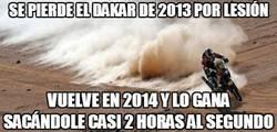 Enlace a Se pierde el Dakar de 2013 por lesión