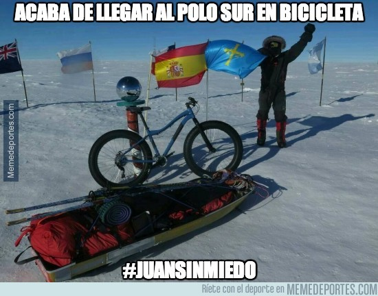 249641 - Acaba de llegar al Polo Sur en bicicleta