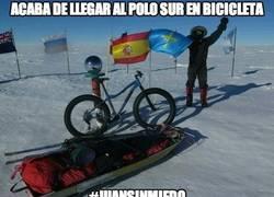 Enlace a Acaba de llegar al Polo Sur en bicicleta