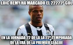 Enlace a Loic Remy ha marcado el 22222º gol