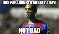 Enlace a Dos paradones a Messi y a Xavi