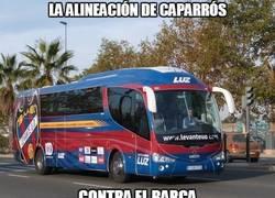 Enlace a La alineación de Caparrós contra el Barça