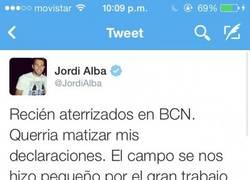 Enlace a La disculpa de Jordi Alba, ¿se la aceptamos?