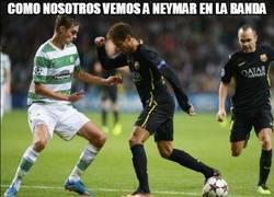 Enlace a Como nosotros vemos a Neymar en la banda