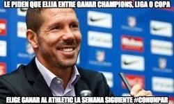 Enlace a Le piden que elija entre ganar Champions, Liga o Copa