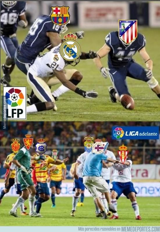 251390 - Pequeñas diferencias entre liga BBVA y liga Adelante