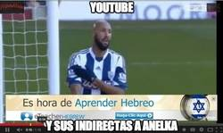 Enlace a Youtube y sus indirectas a Anelka