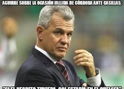 Enlace a Aguirre sobre la ocasión fallida de Córdoba ante casillas: