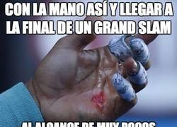 Enlace a Con la mano así y llegar a la final de un Grand Slam