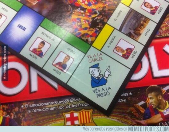 253422 - El Monopoly del Barça. La casilla de Neymar está cerca de la cárcel