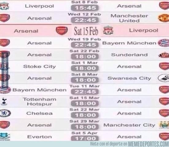 255357 - Hay equipos con calendario difíciles y luego está el del Arsenal