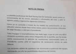 Enlace a La situación del Racing de Santander ya ha llegado a su límite