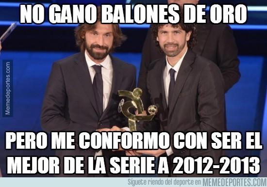 256118 - Pirlo, mejor jugador de la Serie A 2012/13