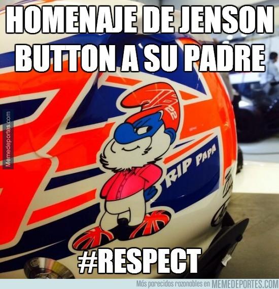 256654 - Homenaje de Jenson Button a su padre