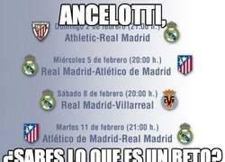 Enlace a Ancelotti, ¿sabes lo que es un reto?