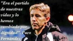 Enlace a Paco Fernández, entrenador del Racing