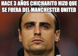Enlace a Hace 3 años Chicharito hizo que se fuera del Manchester United
