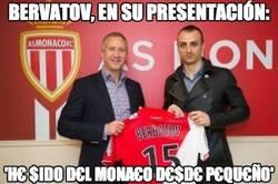 Enlace a Berbatov, en su presentación