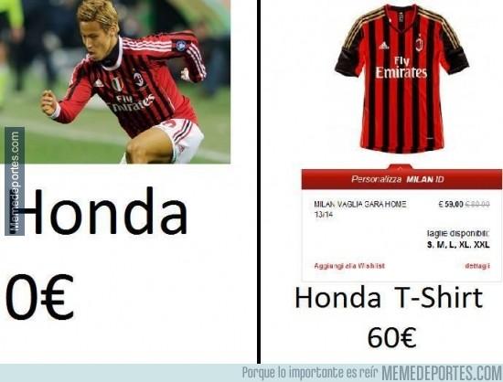 258254 - Honda vale menos que su propia camiseta