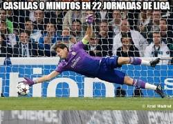Enlace a Casillas 0 minutos en 22 jornadas de Liga