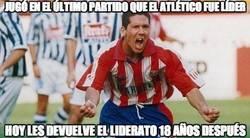 Enlace a Jugó en el último partido que el Atlético fue líder