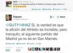 Enlace a En Bilbao, siempre se juega contra 12 según @Toquero_theboss