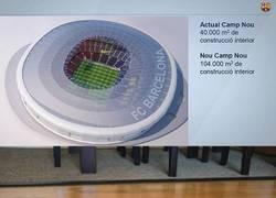 Enlace a Nou Camp Nou vs Robot aspirador. Encuentra las 7 diferencias