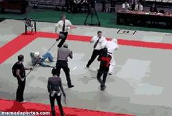 Enlace a GIF: Al árbitro se le cruzaron los cables...