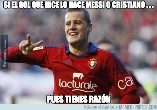 260700 - Si el gol que marqué lo hace Messi o Cristiano...