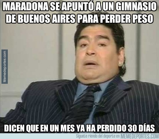 261795 - Maradona se apuntó a un gimnasio de Buenos Aires para perder peso