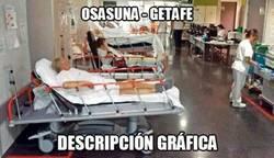 Enlace a 4 lesionados en 5 minutos en el Osasuna - Getafe