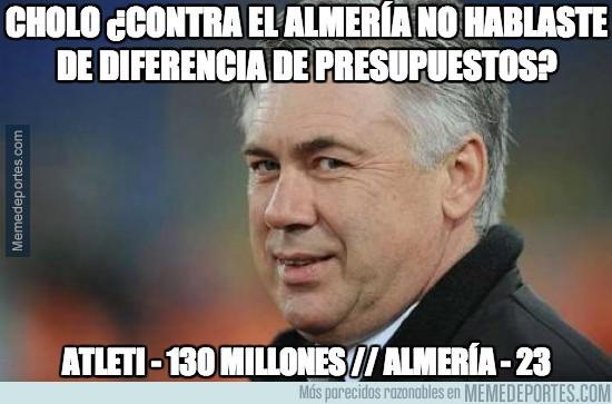 263314 - Cholo ¿contra el Almería no hablaste de diferencia de presupuestos?