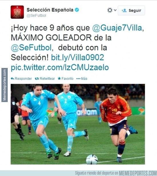 263369 - Tal día como hoy, hace 9 años, David Villa debutaba en la Selección