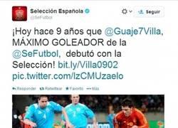 Enlace a Tal día como hoy, hace 9 años, David Villa debutaba en la Selección