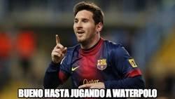 Enlace a Messi es un genio hasta jugando a Waterpolo
