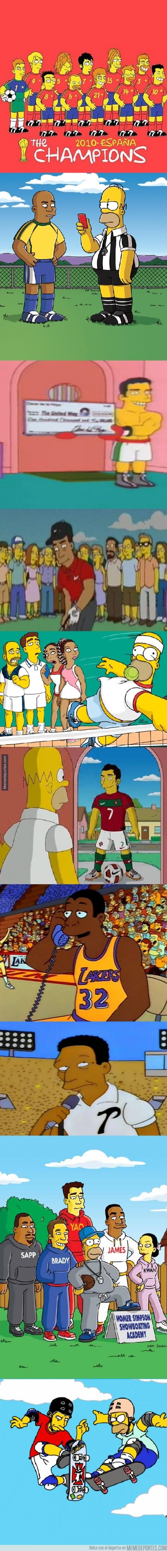264397 - Cameos deportivos en Los Simpson