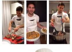 Enlace a Messi cocinando, esto lo explica todo
