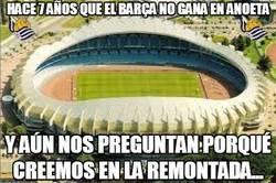 Enlace a Hace 7 años que el Barça no gana en Anoeta