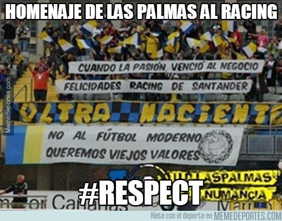 265658 - Homenaje de Las Palmas al Racing