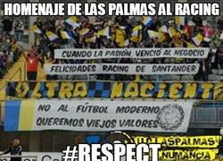 Enlace a Homenaje de Las Palmas al Racing