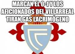 Enlace a Marcan el 0-1 y los aficionados del Villarreal tiran gas lacrimógeno