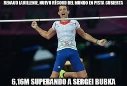 Enlace a Renaud Lavillenie, nuevo récord del mundo en pista cubierta
